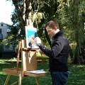 Celebrated Artist John Ross Palmer Paints At Hartwell House Inn - Ogunquit, Maine