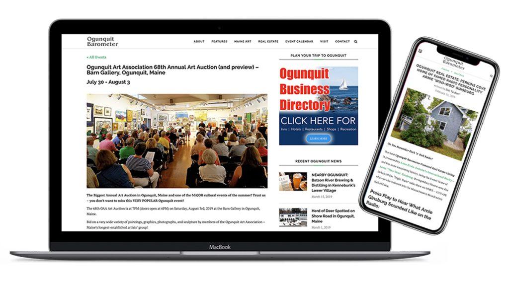 Barometer Media Launches New Website For Ogunquit Arts